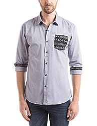 Prym Men's Casual Shirt (8907423052277_2011543603_Small_Navy)