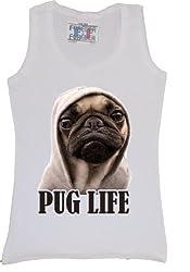 Pug Life Dog Animals Cat Dogs Funny Women Men Vest Tank Top T-Shirt