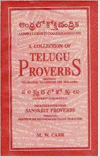 A Collection of Telugu Proverbs: M. W. Carr: 9788120602694