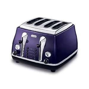 delonghi grille pain cto4003 v 4 tranches couleur violet cuisine maison. Black Bedroom Furniture Sets. Home Design Ideas