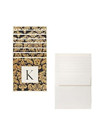 "S.E. Hagarman ""K"" 8 Cards/8 Envelopes, Ivory As You See"