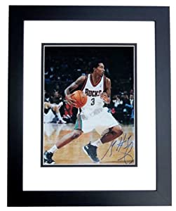 Brandon Jennings Autographed Hand Signed 11x14 Milwaukee Bucks Photo - BLACK CUSTOM... by Real Deal Memorabilia