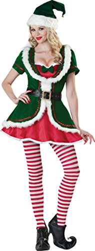 Incharacter Womens Santa Elf Holiday Honey Theme Party Fancy Halloween Costume