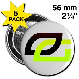 Optic Gaming 2.25'' Buttons, 5-Pack