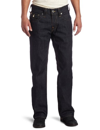 True Religion Men's Ricky Straight Leg Classic Fit Jean in Raw, Raw, 31