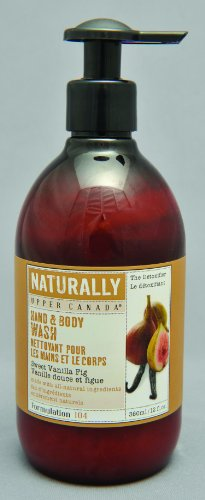 Upper Canada Soap And Candle Naturally Wholesome Hand And Body Wash, Sweet Vanilla Fig, 12-Ounce Bottle (Pack of 2)