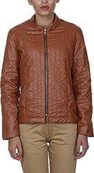 Baba Rancho Women's Regular Fit Jacket (Lj 00213_L, Tan, L)