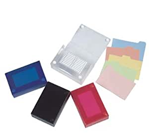 Filexec 5 x 8 Inch Index Case, Snap Button Closure, 5 Index Dividers, Assorted (Pack of 4) (50094-2021)