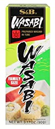 S&B Prepared Wasabi in Tube, 3.17-Ounce (Pack of 10)