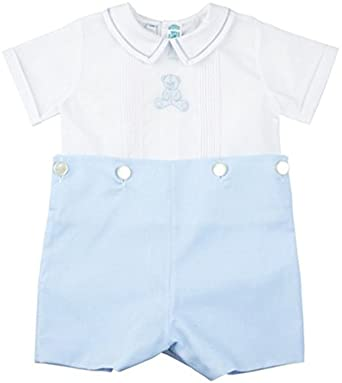 Feltman Brothers Baby Boys Button-On Short Set with Bear Infant