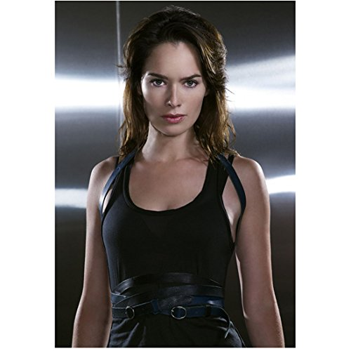 Terminator: The Sarah Connor Chronicles 8x10 Photo Lena Headey Black Tank Top Skinny Black Belt Wrapped Around Many Times kn (Connor Belt compare prices)