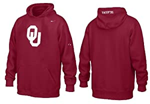 Nike Oklahoma Sooners Youth Embroidered Flea Flicker Hooded Sweatshirt by Nike