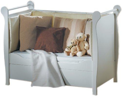 03 480 52 02 - Kinderbett Felice 60 x 120 cm, Umbaubar zum Sofa, weiß