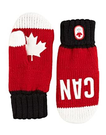 Canada Olympic Collection 2014 Snow Top Red Mittens Small