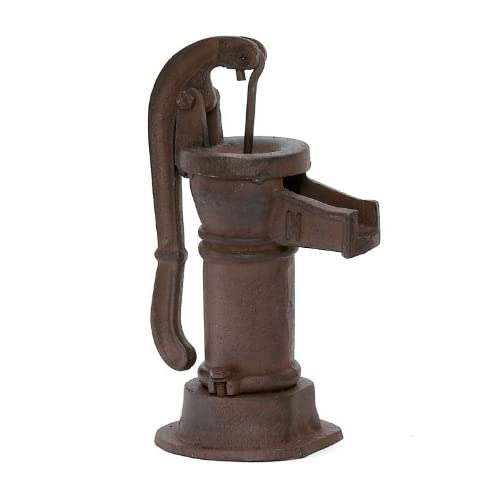 antique hand water pump **cast iron **exact year unknown **pump stands approx. 16 in high **handle is approx. 15in long **pump reads w.l. davey pump corp rockford ill
