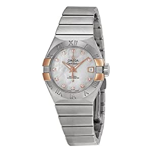Omega Constellation Co-Axial Mother of Pearl Dial Stainless Steel Ladies Watch OM12320272055004