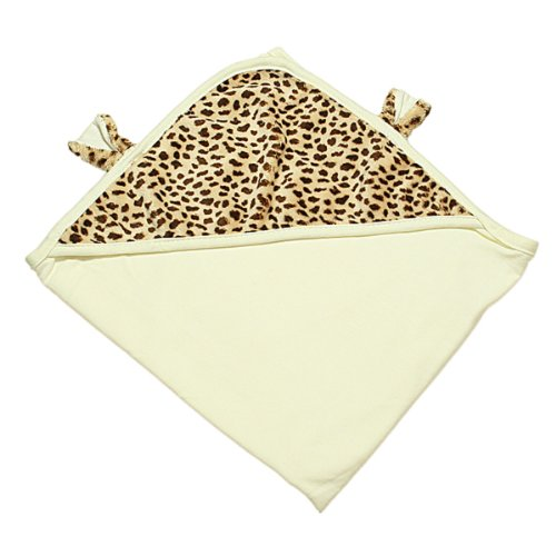 The Babymio Collection Swaddle Blanket, ChiChi the Cheetah Ivory