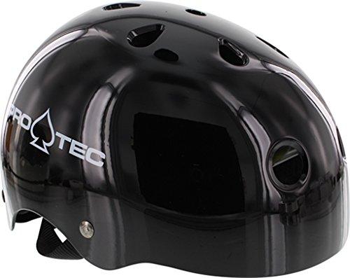 PRO-TEC Classic EPS Foam Liner Gloss Black Large Skateboard Helmet - CE/CPSC Certified