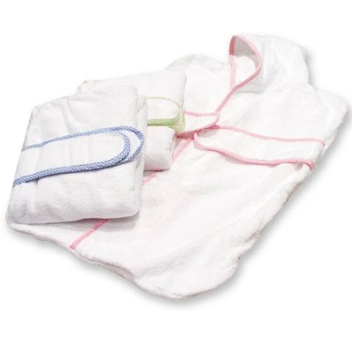 Trend Lab White Terry Kimono Bath Bag With Sage Seersucker Trim WhiteB0006D3QXY : image