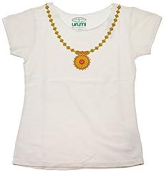 Urumi Women's Regular Fit T-Shirt (White, Large)