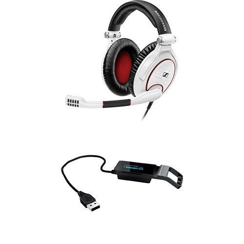 Sennheiser GAME ZERO PC Gaming Headset - White & Sennheiser Sound Card Adaptor for Gaming Headsets Bundle