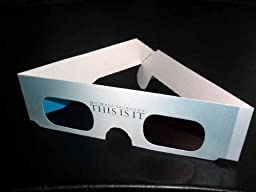 Michael Jackson Promo 2009 Grammy\'s Tribute THIS IS IT 3D Glasses NEW/UNUSED