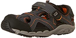Stride Rite Made 2 Play Baby Soni Sandal (Toddler), Grey/Black, 5.5 W US Toddler