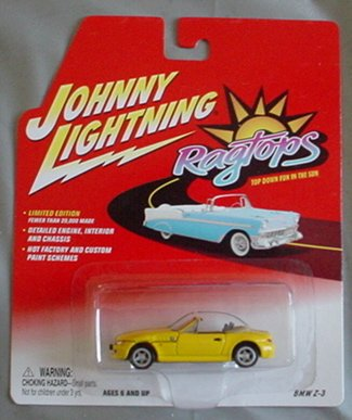 Johnny Lightning Ragtops BMW Z-3 YELLOW Convertible - 1