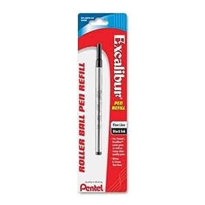 Pentel Excalibur Roller Pen Refill - Fine Point - Black For Pentel Ballpoint Pen 1 Each