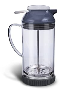 Cuisaid 4-Cup French Press Air-Tight Thermal Borosilicate Glass (Grey)