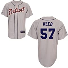 Evan Reed Detroit Tigers Road Replica Jersey by Majestic by Majestic