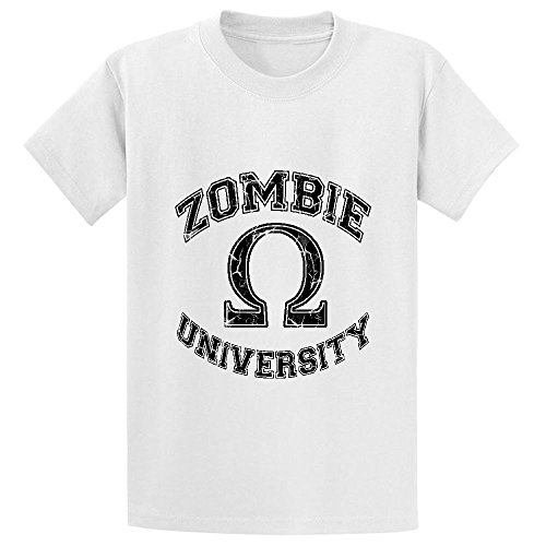 Chas Zombie University Kid's Crew Neck Personalized Tees White