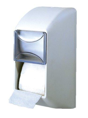 Dispenser Distributore Porta Carta Igienica a Muro Doppio Rotolo Verticale