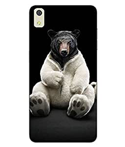 Case Cover Cartoon Printed Black Soft Back Cover For LYF WATER 8