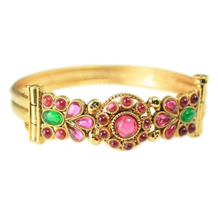 Nipuna Nipuna Multicolour Gold Plated Bangle For Women (NI - BRGDTPMC05-00058) (Multicolor)