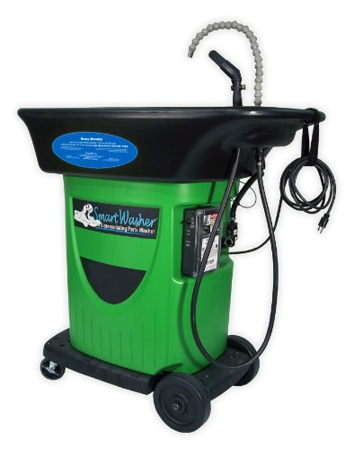"""Crc Smartwasher High Density Polyethylene Mobile Parts And Brake Washer, 43"""" Width X 42"""" Height X 27"""" Depth, Green"""