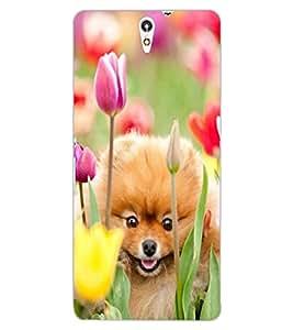 ColourCraft Cute Puppy Design Back Case Cover for SONY XPERIA C5 ULTRA