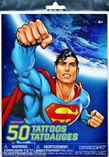Superman Temporary Tattoos (50ct)