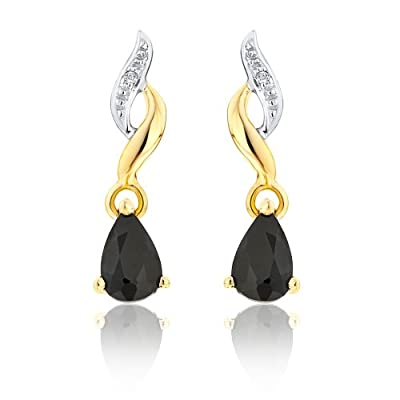 Ornami Glamour 9ct accent Drop Earrings
