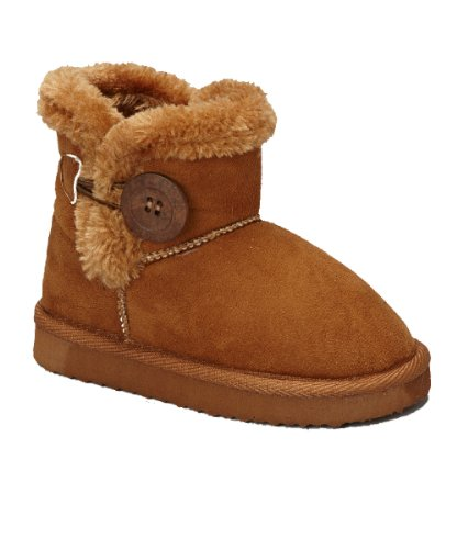 Baulina K Little Girls Shearling Boots Camel