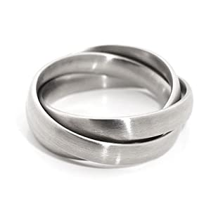Monomania stainless steel mens russian wedding ring for Mens russian wedding ring