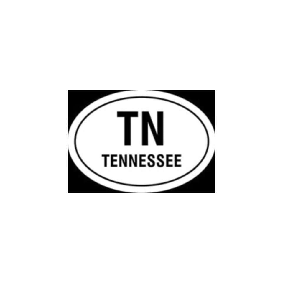 Tennessee state Euro oval vinyl window decal.