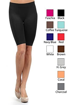 Fashion MIC Women's Seamless Biker Exercise Shorts
