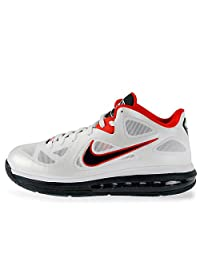 Nike Men's Nike Lebron 9 LOW Basketball Shoes 7.5 (White/obsidian/univerty Red)