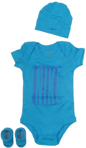 Nike Baby Clothing Set with Big Nike Bold Logo for baby boys and girls Blue, 0-6 Months