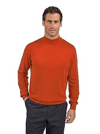 Paul fredrick men 39 s silk cotton cashmere mock neck for Mens silk shirts amazon