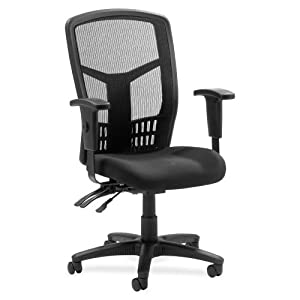 "Wholesale CASE of 2 - Lorell 86000 Series Executive Mesh High-Back Chair-Executive High-Back Chair,Mesh Fabric,28-1/2""x28-1/2""x45,BK"