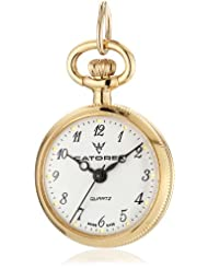 Catorex Women's 675.6.12311.121 Les petites 18k Gold Plated Brass Bird Picture Back Pendant Watch