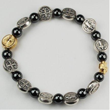 Saint Benedict Bracelet Religious Jewelry Patron