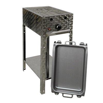 Gasgrill-Kombibräter 4 kW Standmodell mit Grillrost und Stahlpfanne 1-flammig Gasgrill Grill Gastrobräter Profigrill Verein jetzt bestellen